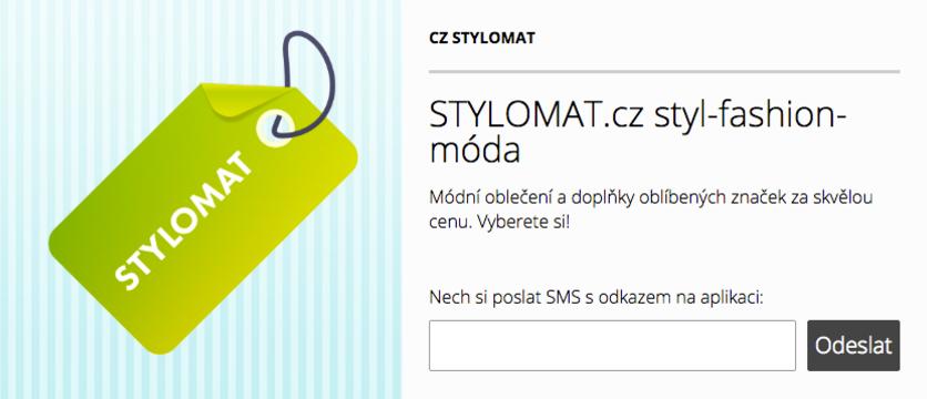 Stylomat - odkaz na tažení aplikace z počítače